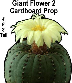 Giant Flower 2 Cardboard Cutout Standup Prop