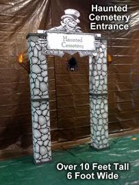 Haunted Cemetery Theme Kit Entrance - Cardboard Prop