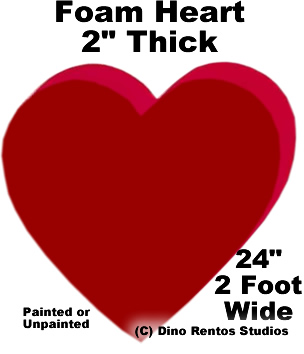 "Foam Heart Prop - 24"" Wide"