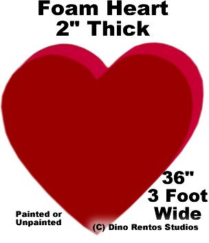 """Foam Heart Prop - 36"""" Wide"""