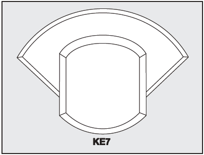 KE7 - Architectural Foam Shape - Keystone