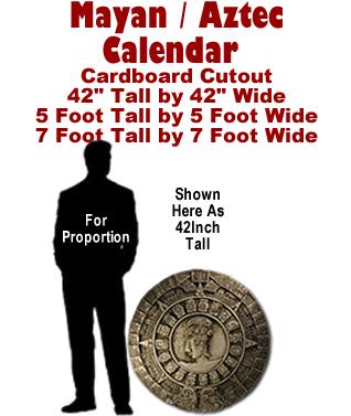 Mayan - Aztec Calendar Cardboard Cutout Standup Prop