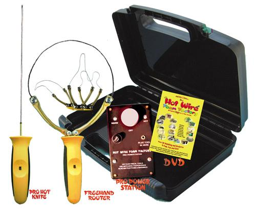 """Pro 8"""" Hot Knife & Freehand Router Kit"""