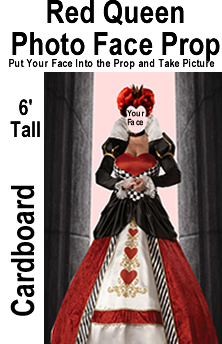Red Queen Photo Face Cardboard Prop