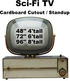 SciFi TV Cardboard Cutout Standup Prop
