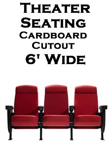 Theater Seats Cardboard Cutout Standup Prop