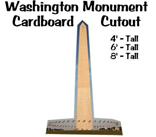 Washington Monument Cardboard Cutout Standup Prop