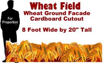 Wheat Field Cardboard Cutout Standup Prop