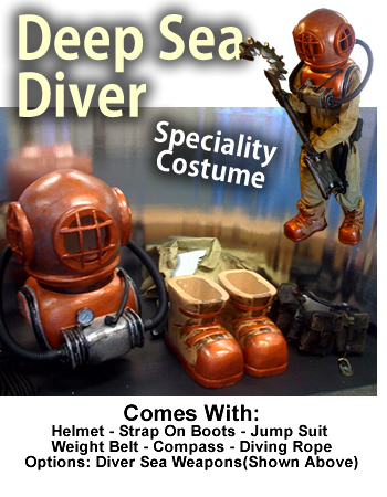 Deep Sea Diver Costume/Mascot