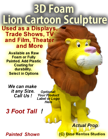 3D Foam Cartoon Lion Prop