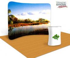 10ft Curved Portable Fabric Tension Exhibition Display System- Style A (With Graphic)