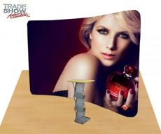 10ft Curved Portable Fabric Tension Exhibition Display System- Style B (With Graphic)