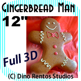 Giant Gingerbread Man Foam Prop - 12 Inches