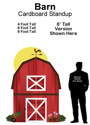 Barn Cardboard Cutout Standup Prop