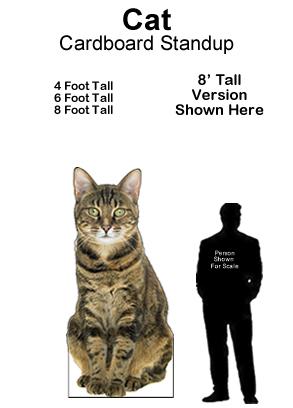 Cat Cardboard Cutout Standup Prop