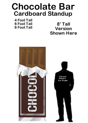 Chocolate Bar Cardboard Cutout Standup Prop
