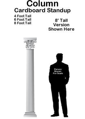 Column Cardboard Cutout Standup Prop