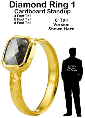 Diamond Ring 1 Cardboard Cutout Standup Prop