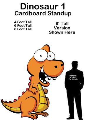 Dinosaur 1 Cartoon Cardboard Cutout Standup Prop