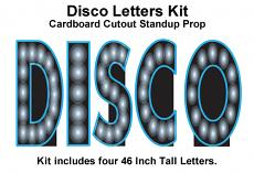 DISCO Letters Cardboard Cutout Standup Kit