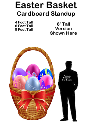 Easter Basket Cardboard Cutout Standup Prop
