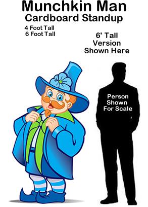 Munchkin Man - Wizard of Oz Cardboard Cutout Standup Prop