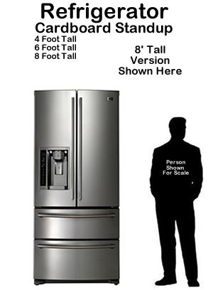 Refrigerator Cardboard Cutout Standup Prop