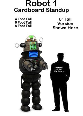 Robot 1 Cardboard Cutout Standup Prop