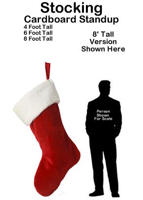 Christmas Stocking Cardboard Cutout Standup Prop
