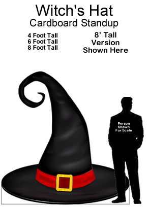 Witch's Hat Cardboard Cutout Standup Prop