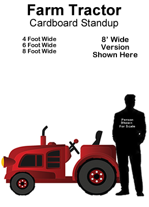 Tractor Cardboard Cutout Standup Prop