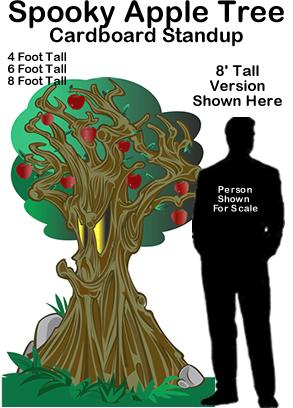 Spooky Apple Tree Cardboard Cutout Standup Prop