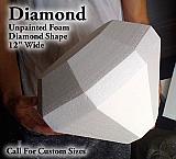 """Foam Diamond Prop 12"""" Wide - Unfinished Foam"""