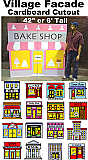 Cartoon Village Cardboard Cutout Standup Prop