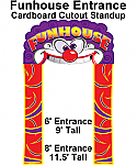 Funhouse Entrance Cardboard Cutout Standup Prop