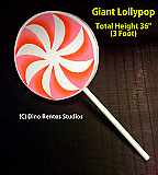 Giant Foam Lollypop Candy Prop - 36 Inches