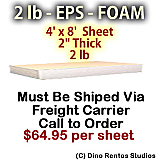 EPS Foam Sheet - 2 lb Density - 48x96x2