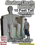 10 Foot Abraham Lincon Memorial Foam Prop