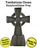 Tombstone Cross Sculpture Statue Prop