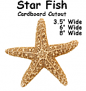 Star Fish Cardboard Cutout Standup Prop