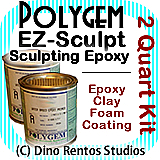 Polygem EZ Sculpt Epoxy Clay Foam Coating - 2 Quart