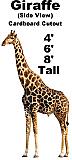 Giraffe Side Cardboard Cutout Standup Prop