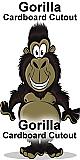 Gorilla Cartoon Cardboard Cutout Standup Prop