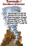 Tornado Cardboard Cutout Standup Prop