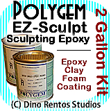 Polygem EZ Sculpt Epoxy Clay Foam Coating - 2 Gallon