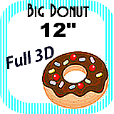 Big/Giant Donut Foam Prop 12""