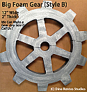 12 Inch Big Foam Gear-B Prop