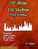 10 Inch Citi-Skyline Foam Shape Silhouette