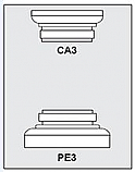 CA3-PE3 - Architectural Foam Shape - Capital & Pedestal