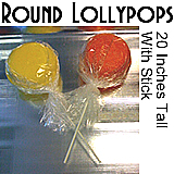 Big Round Lollipop - 20 Inches Tall
